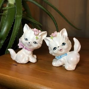 Antique kitschy kitten salt and pepper shakers
